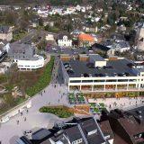 Bauarbeiten des neuen Einkaufcenter in Bensberg starten mit dem Bauzaun ab dem 26.2.2018
