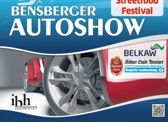 Bensberger Autoshow am 31. August/1. September mit Streetfoodfestival