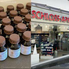 Schloss Apotheke – Corona Schutzmaßnahmen – Desinfektionsmittel