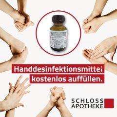 Schloss Apotheke – Händedesinfektion aus Eigenherstellung